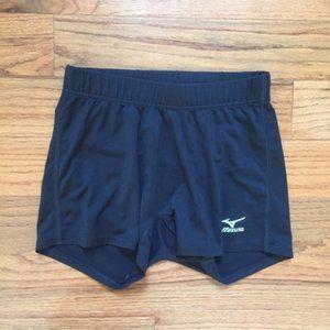 Black Mizuno Volleyball Spandex Shorts